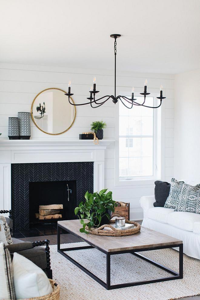 Best Modern Farmhouse Living Room Black And White Decor 640 x 480