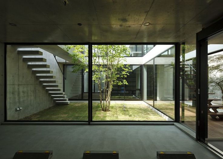Modern Japanese courtyard
