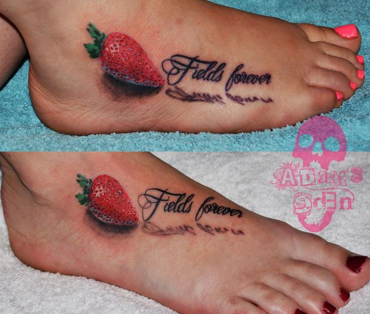 Adam's Eden Tattoos South Africa- Strawberry fields forever #tattooaddict #tattoosupplier