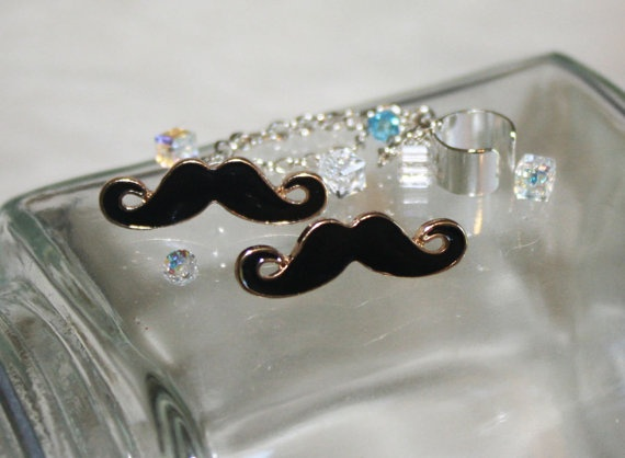 Got a pair of these mustache earrings at home.