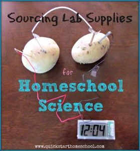 sourcing lab supplies for homeschool science