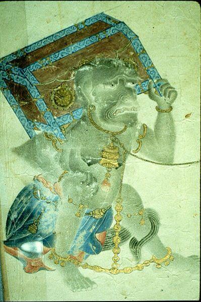 Uighur Manichaean Miniatures Muhammed Siyah Qalam (Muhammed of the Black Pen). 14th century.