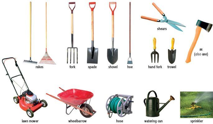 Name these gardening tools if you know.   Tools used for