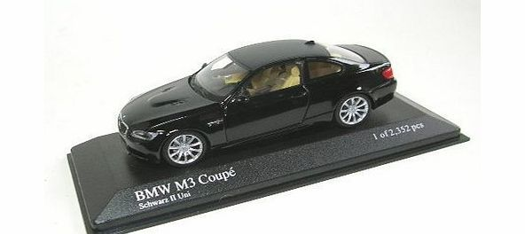Minichamps - 2008 BMW M3 - Black BMW M3 scale model with opening bonnet and detailed engine. (Barcode EAN = 4012138081598). http://www.comparestoreprices.co.uk/cars-and-other-vehicles/minichamps--2008-bmw-m3--black.asp