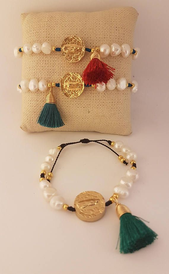 gold plated beads Gold necklace string beaded necklace gold plated necklace Medal