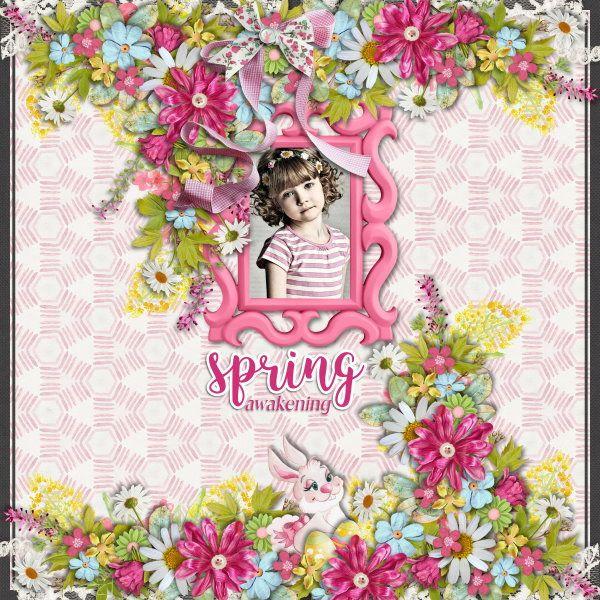 Kit Spring Awakening by Valentina Pellitteri(Valentina Creations). Template VIntage Charm #2 by Heartstrings Scrap Art.