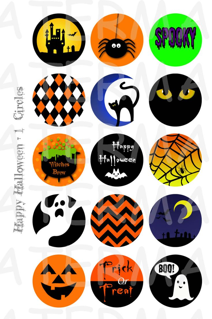Happy Halloween 4 x 6 Digital Collage Sheet 1 Zoll von OldMarket