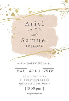New story printable invitation template. Customize, add text and photos. Print, download, send online for free! #invitations #printable #diy #template #wedding