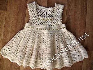 Платье для девочки - крючком