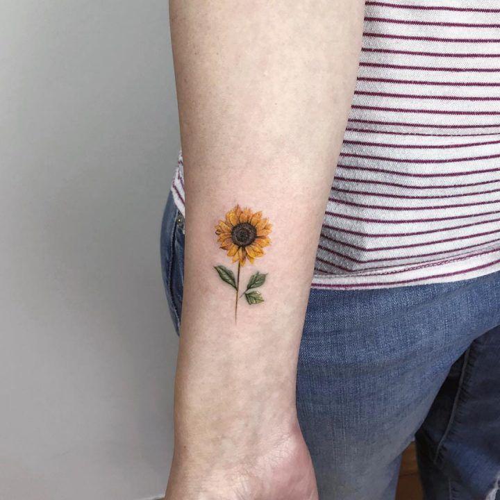 Sunflower… Sonnenblumen-Tattoo-Modell