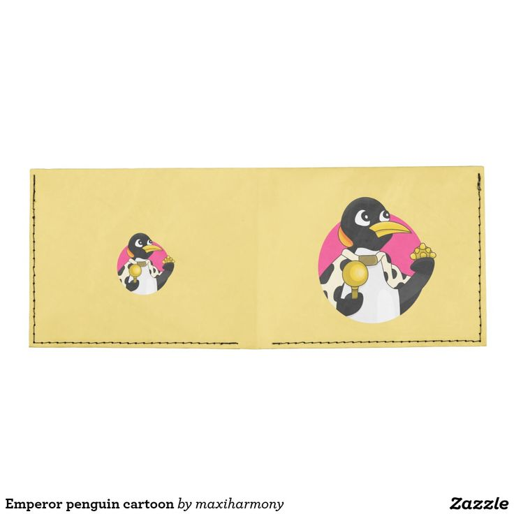 Emperor penguin cartoon billfold wallet