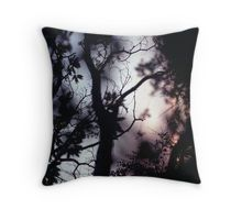 Tree branches on summer evening  in Spain square medium format film analogue photographer Throw Pillow