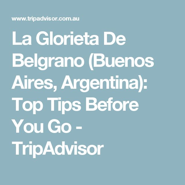 La Glorieta De Belgrano (Buenos Aires, Argentina): Top Tips Before You Go - TripAdvisor
