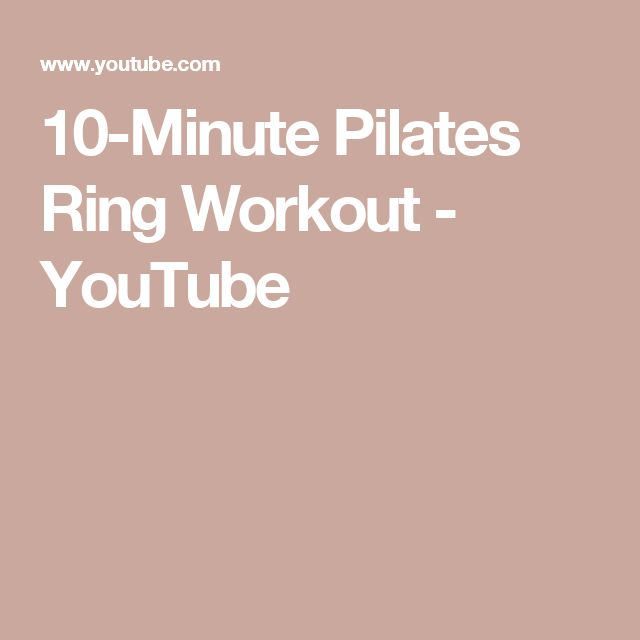 10-Minute Pilates Ring Workout - YouTube