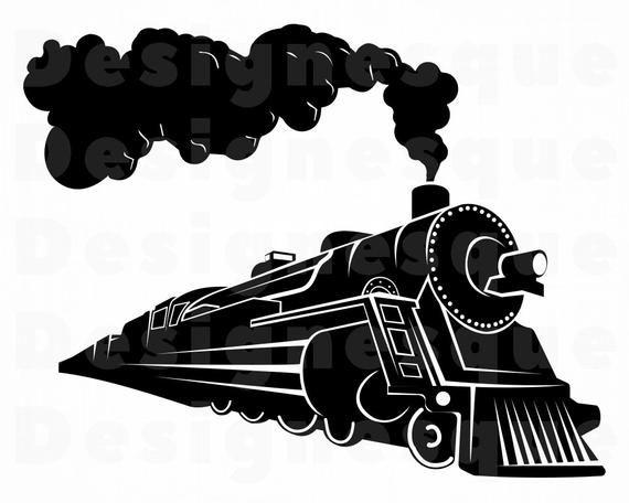 Steam Train 2 Svg Train Svg Steam Engine Svg Locomotive Etsy In 2021 Train Clipart Svg Silhouette Clip Art