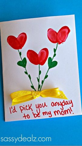 Fingerprint Flower Mother's Day Card - Sassy Dealz
