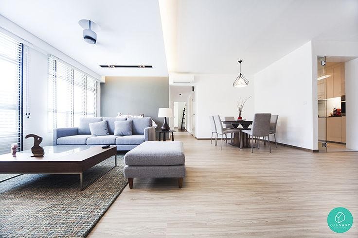 This interior maintains a neutral palette with its wall colours and furnishings. #minimalistic