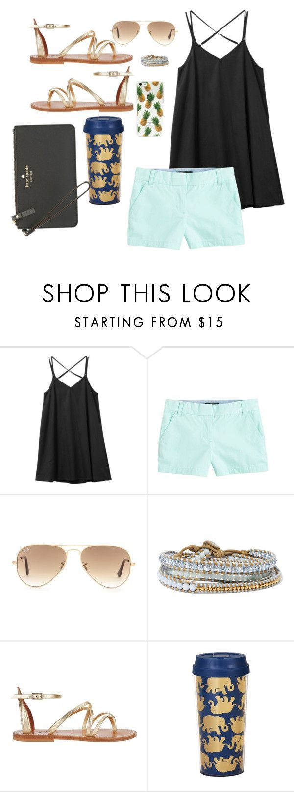 """Modern"" by erinlarson0226 ❤ liked on Polyvore featuring RVCA, J.Crew, Ray-Ban, Chan Luu, K. Jacques, Lilly Pulitzer, Kate Spade and modern"