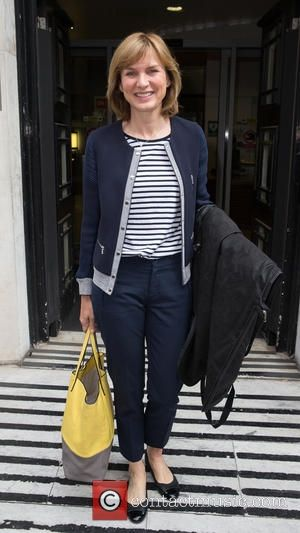 Fiona Bruce - Fiona Bruce pictured leaving the Radio 2 studio after appearing as a guest on the Chris Evans...
