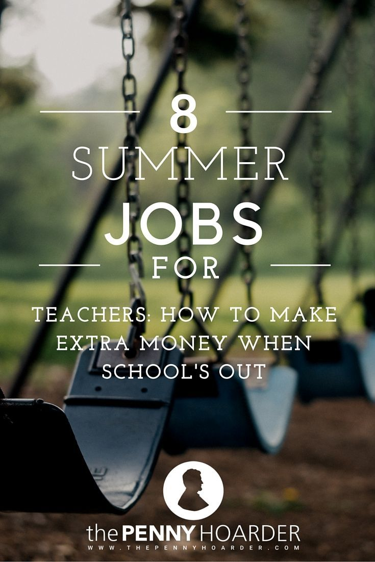 School's out, but that doesn't mean teachers can't keep earning. Here are a few fun ways to make extra money during the summer, including several that will help you keep your teaching and group management skills sharp at the same time. This year, will you be trying any of these summer jobs for teachers? - The Penny Hoarder http://www.thepennyhoarder.com/summer-jobs-for-teachers/