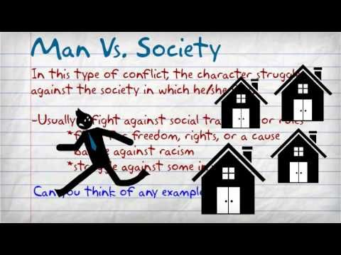 Instructive Video on the literary conflict.  The Types of Conflict