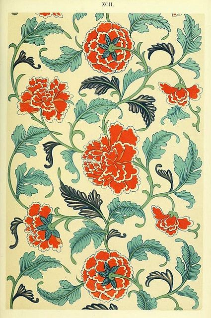 Peony - Examples of Chinese Ornament (1867)