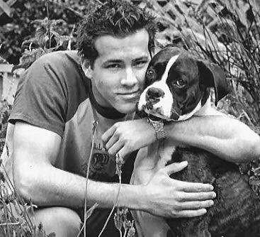 Ryan Reynolds and his dog