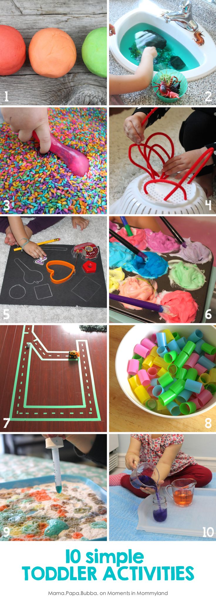 10 Simple Toddler Activities | Mama.Papa.Bubba.