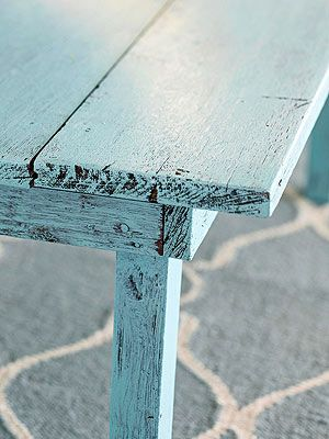 Use this distressed furniture technique to give a piece of wood furniture an aged look with paint. Distressed furniture is perfect for rooms decorated with flea market finds and antique treasures, but the good thing about this technique is you don't have to buy old to get a charming patina. And distressing furniture can be done in almost no time with this easy how-to.