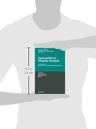 Approaches to Singular Analysis: A Volume of Advances in Partial Differential Equations (Operator Th