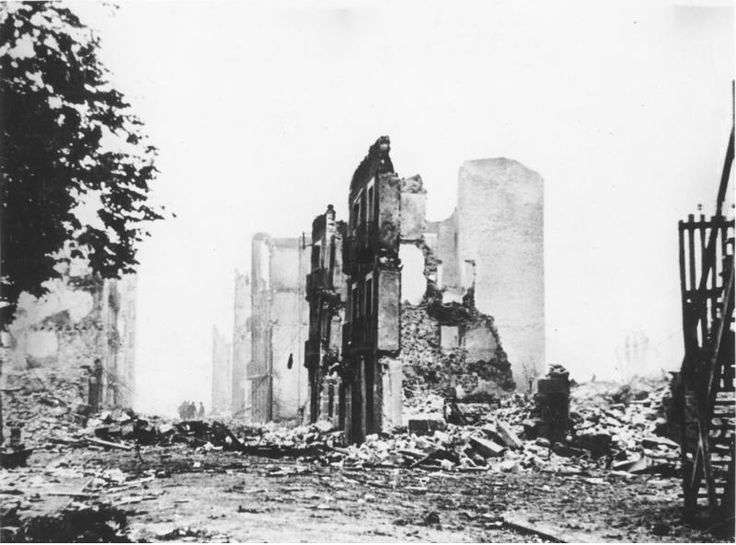 A building in ruins after aerial bombing, Guernica, Spain, mid-1937