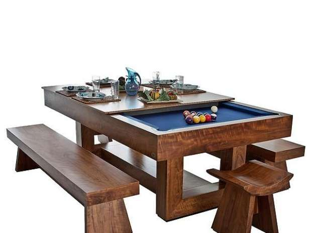 blogAuriMartini: Mesas de bilhar que viram mesa de jantar