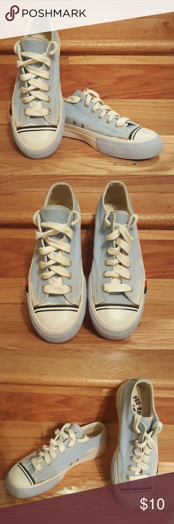 PRO Keds Sneakers Size 7.5 Light Blue PRO Keds low top sneakers.  A little discoloration but otherwise great condition. PRO Keds  Shoes Athletic Shoes
