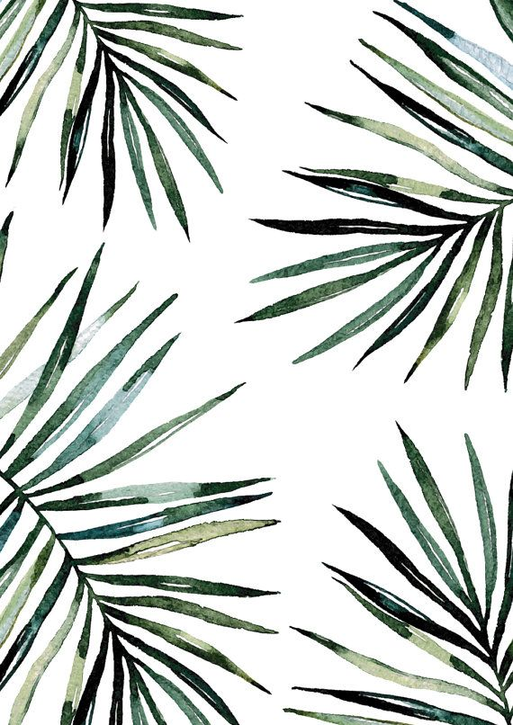 Palmiers tropicaux Print / / Palm feuille par TheNativeState
