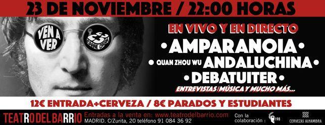 Celebramos los 20 años de Amparanoia en el Teatro del Barrio