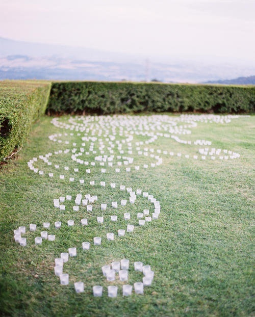 Front yard? wedding decor... candles Christmas yard art Any night time event