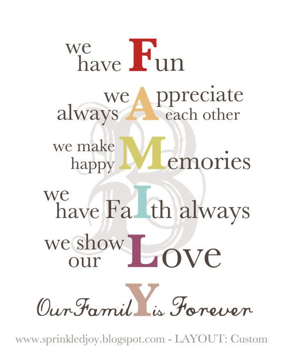 FAMILY - Customizable printable