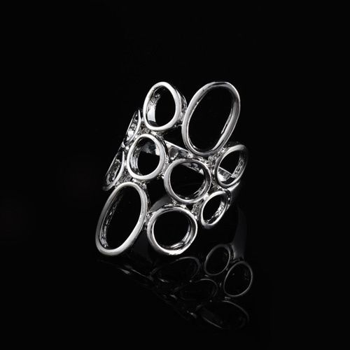 Fashion New Arrivals Silver Women Circles Dome Wide Shield Rings[US$1.88]... gold -http://www.dualshine.com/