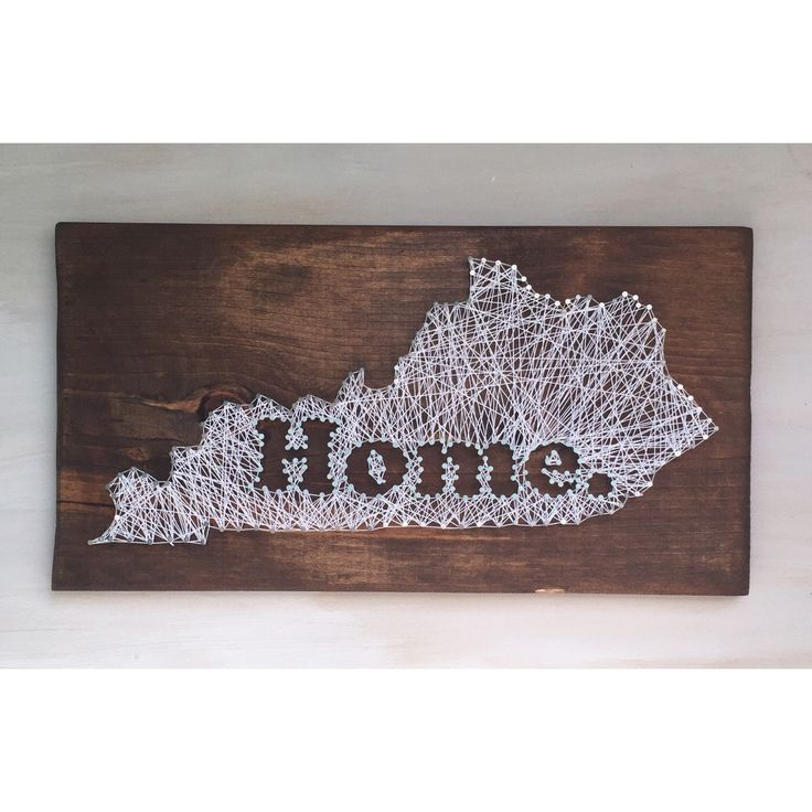 A personal favorite from my Etsy shop https://www.etsy.com/listing/252297472/string-art-home-decor-kentucky-home