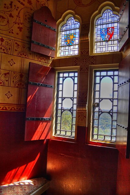 Castle Coch interior looking towards Cardiff Castle HDR by fillbee, via Flickr