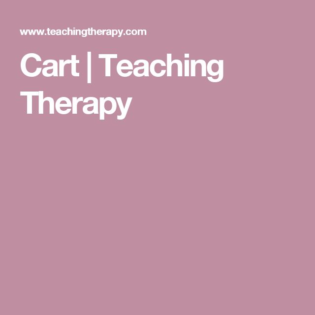 Cart | Teaching Therapy