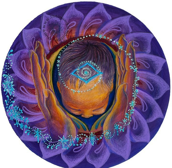 A birth mandala is your personal, visual map for childbirth. It begins with a ten centimeter circle to represent cervical dilation and 1st stage of labor. The collage or drawing is then embellished with images to embody your complete vision for childbirth.