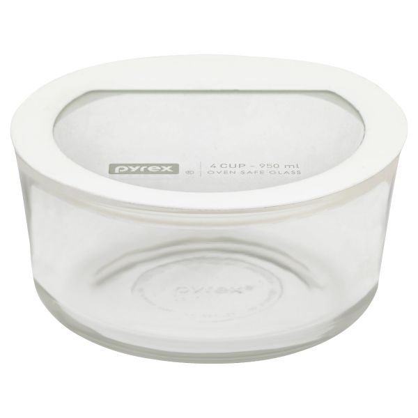 Food Storage Container With White Lid