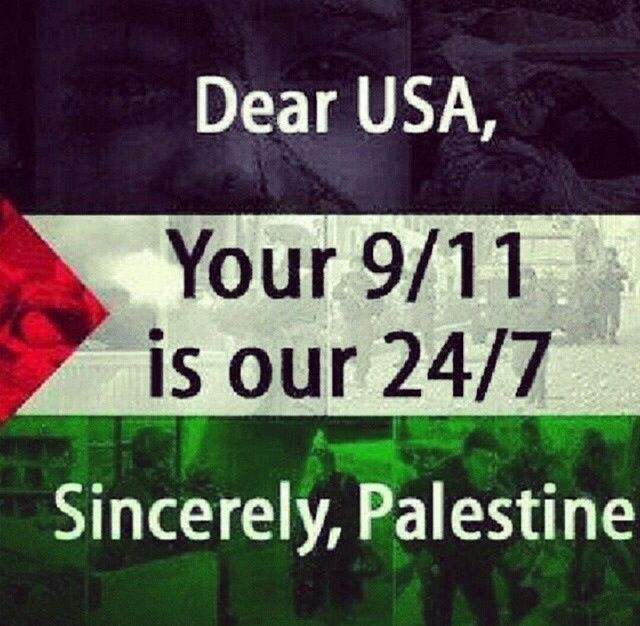 If 9/11 deserves a moment of silence. What's happening in Palestine now and for the past 66 years deserves us never to speak again. 9/11 really is there 24/7 #freepalestine #istandwithpalestine