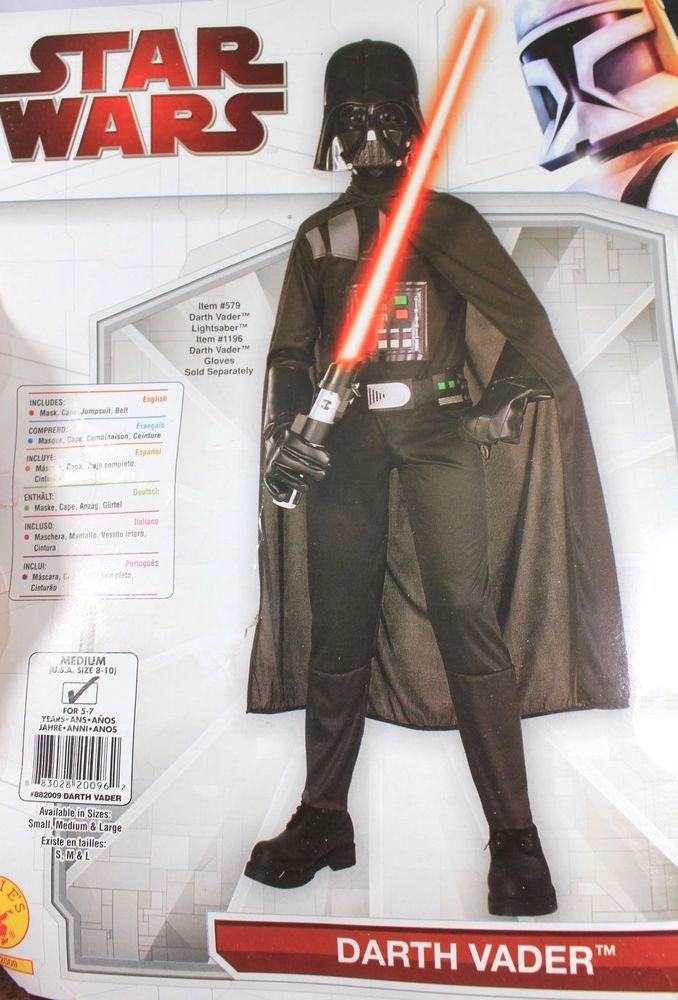 Star Wars Darth Vader Halloween Costume Childs  8 -10 Medium