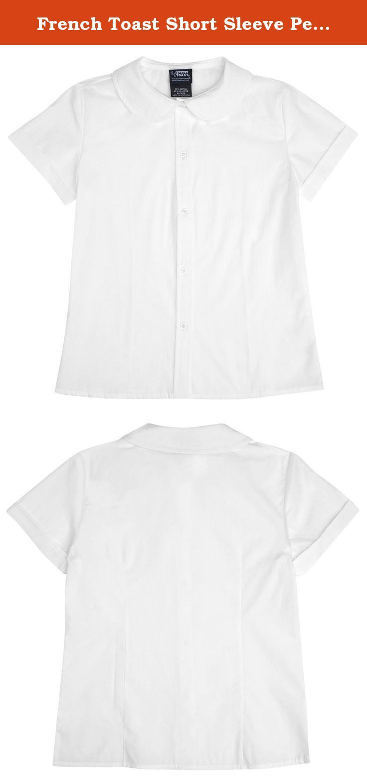 French Toast Short Sleeve Peter Pan Blouse (Sizes 2-6X) - white, 6. Our new basic is borrowed from the fashion world and sure to be a staple for school. This simple, classic legging works as a layering piece with dresses, skorts, skirts and scooters. Cotton/spandex blend. Imported. Machine wash.