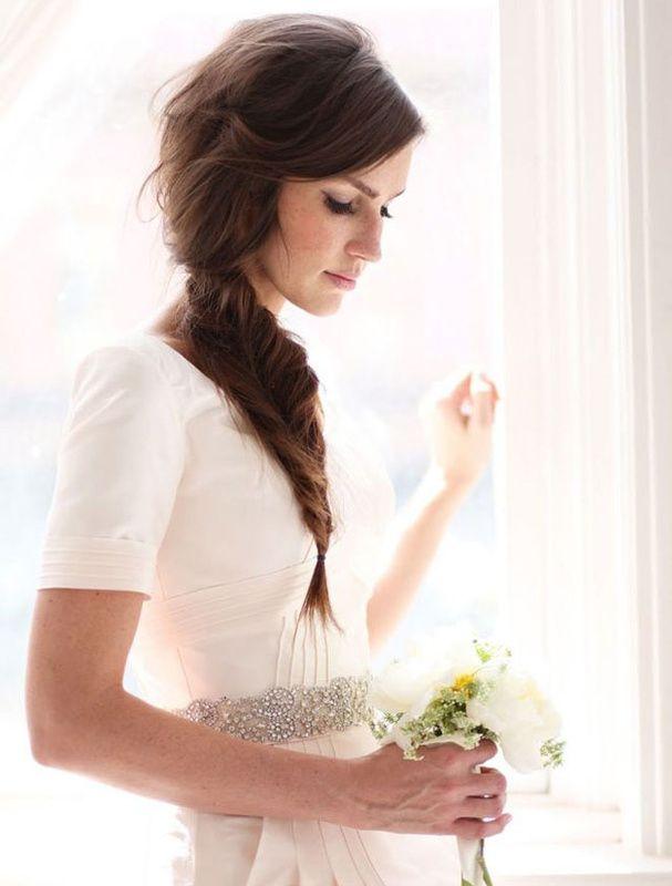 tresse épi cheveux mariage