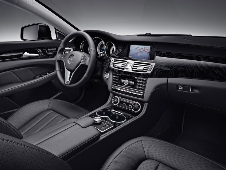 Build Your Own Audi >> Mercedes-Benz CLS550 interior shown with Black leather and Black Ash wood trim. | CLS-Class ...