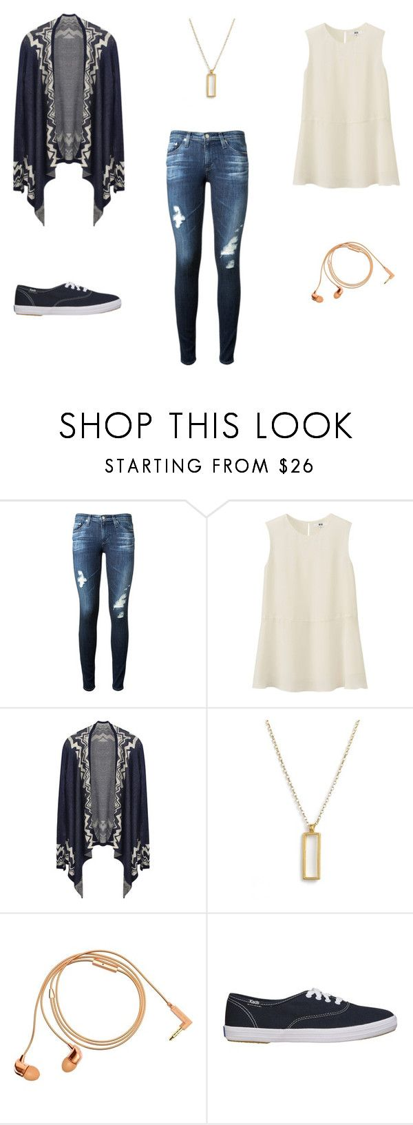"""""""Hamburg 3"""" by lamaunicorn ❤ liked on Polyvore featuring AG Adriano Goldschmied, Uniqlo, Dogeared and Happy Plugs"""
