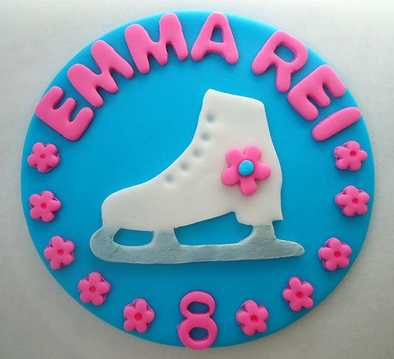 Decorating Ideas > Fondant Cake Topper  Ice Skate  Ice Skating Edible Cake  ~ 082523_Fondant Cake Topper Ideas